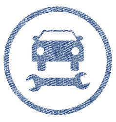 Car repair fabric textured icon vector