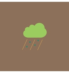cloud it is raining and hail vector image vector image