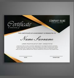 Elegrant premium luxury style certificate of vector