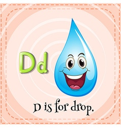 Flashcard letter D is for drop vector image