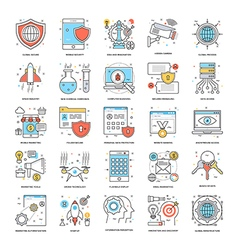 Flat Color Line Icons 9 vector image