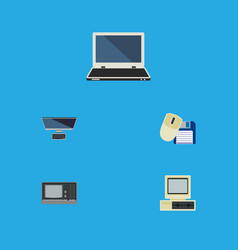 Flat icon computer set of computer mouse computer vector