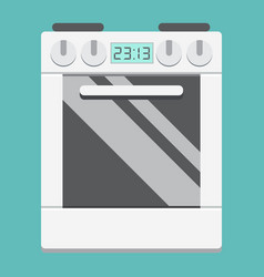 Gas stove flat icon kitchen and appliance vector