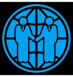 Global partnership icon vector image