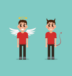 good and bad children vector image vector image