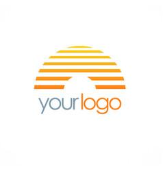 line horizon company logo vector image vector image