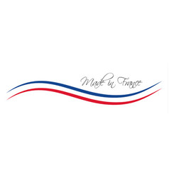 Made in france symbol colored ribbon vector