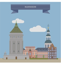 Mannheim vector image vector image