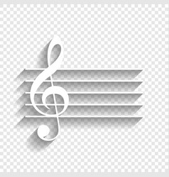 Music violin clef sign g-clef white icon vector