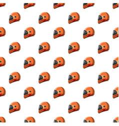 Orange racing helmet pattern vector