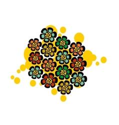 Pattern with strange floral balls vector