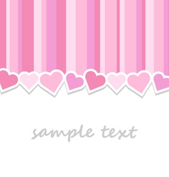 pink valentine day greeting card background vector image vector image