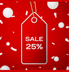 Red pennant with an inscription big sale twenty vector
