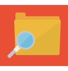 Search file folder icon image vector