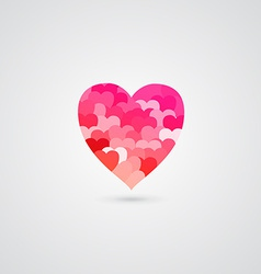 Shiny rose heart for valentines day vector