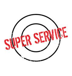 Super service rubber stamp vector