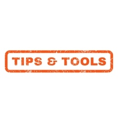 Tips tools rubber stamp vector
