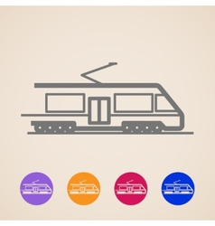 Train icons vector