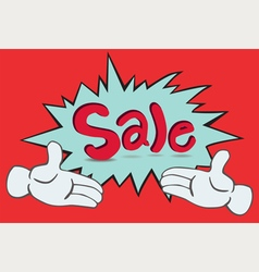Two Hand Sale vector image vector image