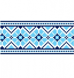 Ukrainian embroidery vector