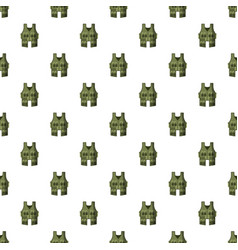 vest pattern vector image vector image