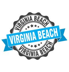 Virginia beach round ribbon seal vector