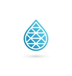 Water drop symbol logo design template icon may be vector