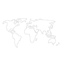 World map - angular outline vector