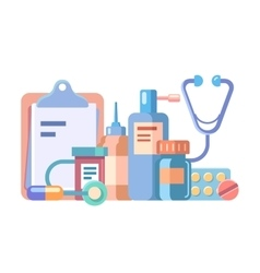 Medication and medical accessories vector