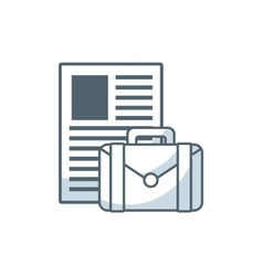 Paper documents with business icon vector