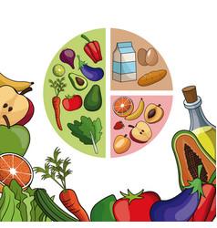 food balance diet menu poster vector image