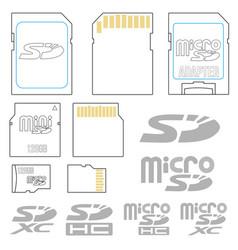 Sd card symbols vector