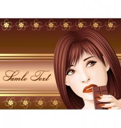 chocolate girl vector image