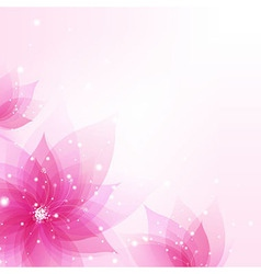 Abstract Background With Flowers vector image