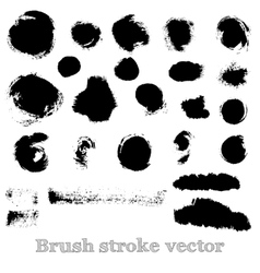 Set of real round brush strokes vector