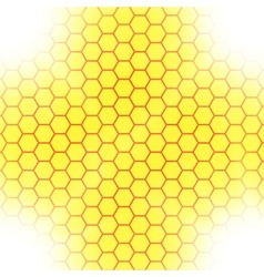 Abstract honeycomb background blurry light effects vector