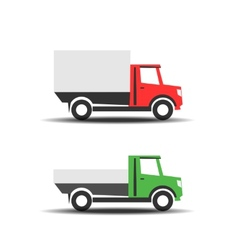 Delivery trucks icons vector