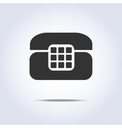 Phone retro icon in gray colors vector