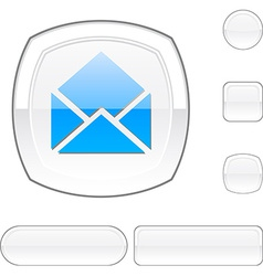 E-mail white button vector
