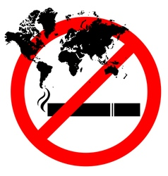 Abstract prohibiting smoking sign for world no vector