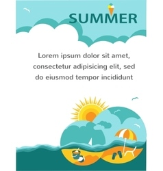 Summer time holiday card vector