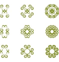 Floral symbols vector