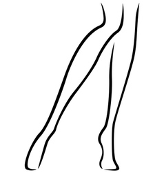 Slender barefoot female feet vector