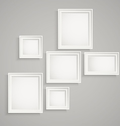 Different picture frames on the wall place your vector