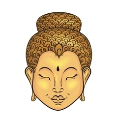 artistically colorful Portrait of Buddha vector image