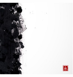 Black grunge splash on white background vector