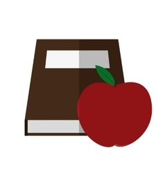 Book and apple of school concept design vector