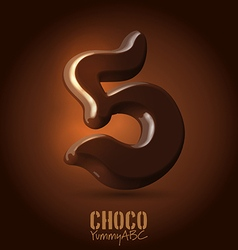 Chocolate dark 3d typeset vector image