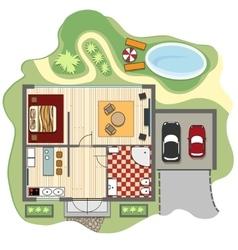 Floor plan of house vector