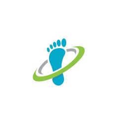 Foot logo template vector